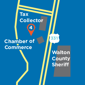Map of stop 4 location